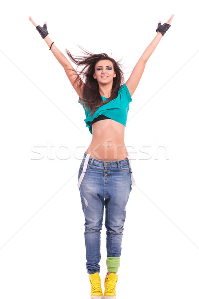 woman dancer in Y position Stock photo © feedough