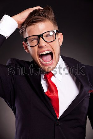 man making a fool out of himself Stock photo © feedough