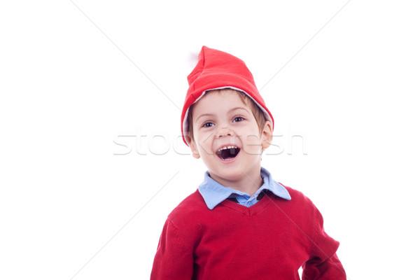 little santa boy wondering  Stock photo © feedough