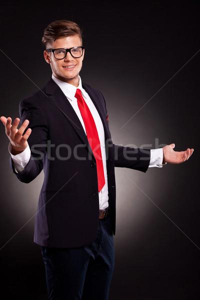 business man welcoming you Stock photo © feedough