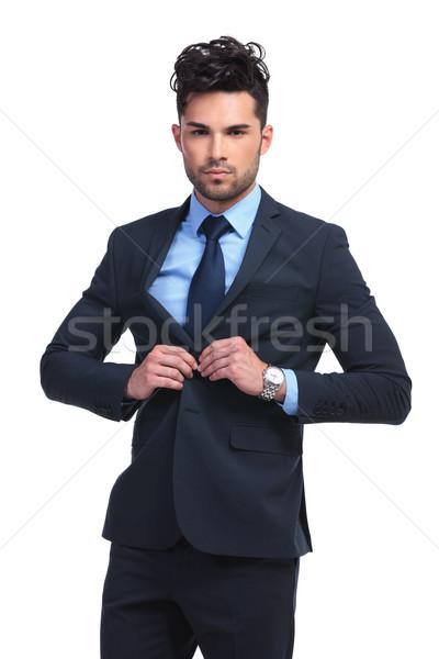 ファッション ビジネスマン 国連 コート 深刻 小さな ストックフォト © feedough
