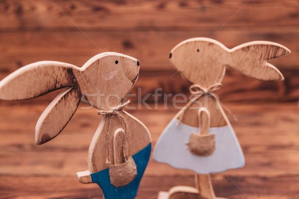 Кролики пару старое дерево любви Сток-фото © feedough