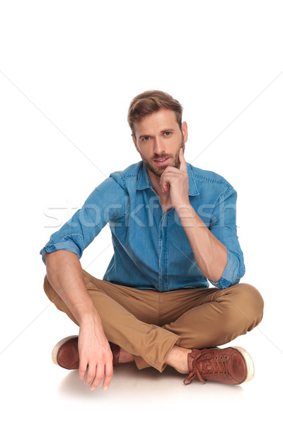 casual man lying down and thinking  Stock photo © feedough