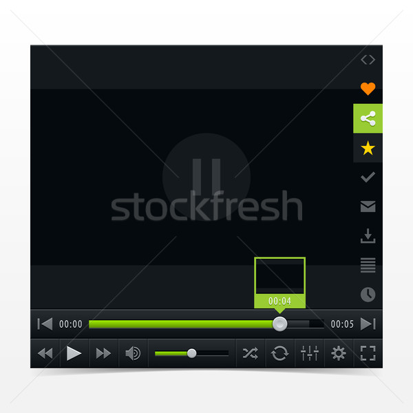 Black media player with video loading bar Stock photo © feelisgood