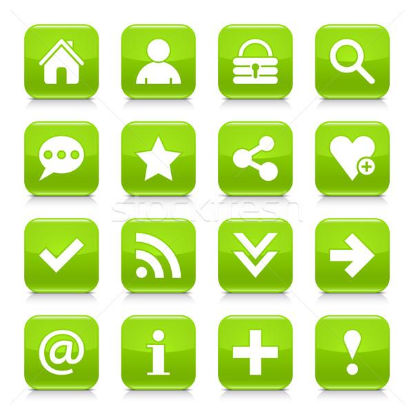 緑 基本 にログイン 広場 アイコン webボタン ストックフォト © feelisgood