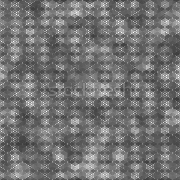Zeshoek abstract kleur sjabloon Stockfoto © feelisgood