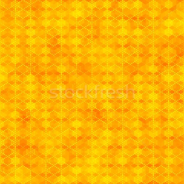 Narancs végtelen minta hatszög formák absztrakt szín Stock fotó © feelisgood