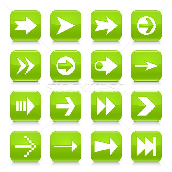 緑 広場 アイコン webボタン 16 ストックフォト © feelisgood
