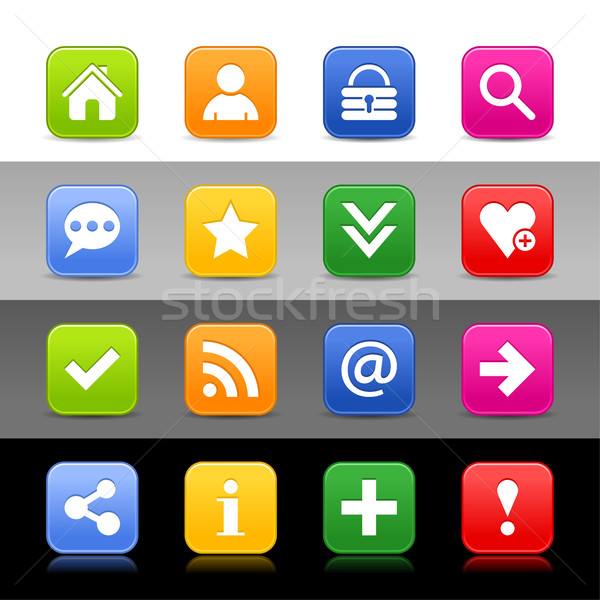 Web icon ingesteld fundamenteel teken 16 Stockfoto © feelisgood