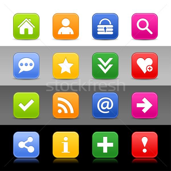 ウェブのアイコン セット 基本 にログイン 16 webボタン ストックフォト © feelisgood