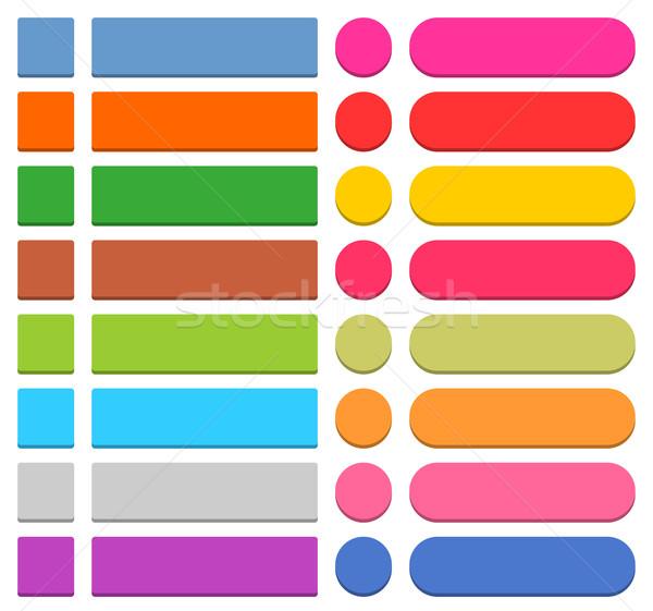 ウェブのアイコン ボタン アイコン 3D スタイル ストックフォト © feelisgood