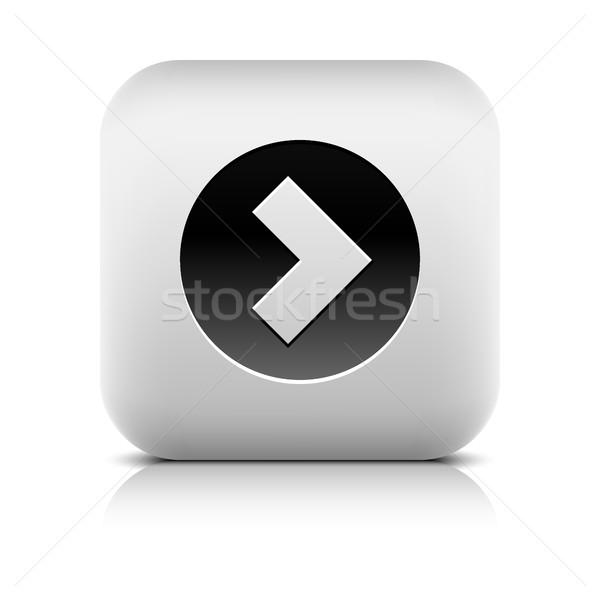 Web simgesi ok işareti siyah daire kare Internet Stok fotoğraf © feelisgood