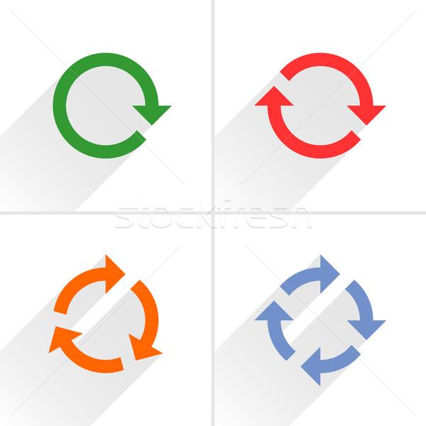 Color arrow loop, refresh, reload, rotation sign Stock photo © feelisgood