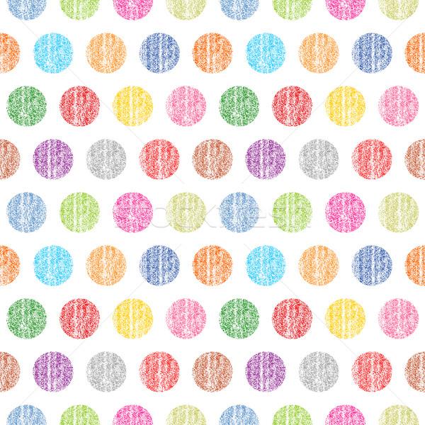 Seamless pattern polka dots on a white background Stock photo © feelisgood