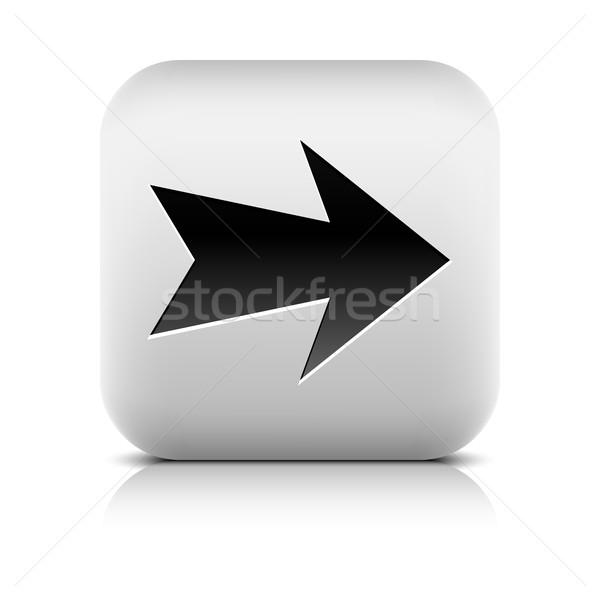 グレー アイコン 黒 広場 ボタン ストックフォト © feelisgood