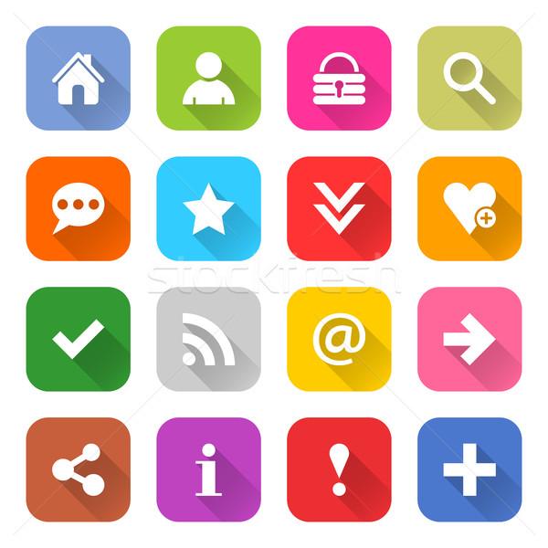 ウェブのアイコン にログイン 16 基本 白 ストックフォト © feelisgood