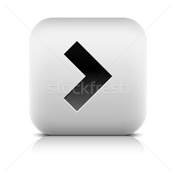 Stok fotoğraf: Gri · ikon · siyah · ok · işareti · gölge · taş