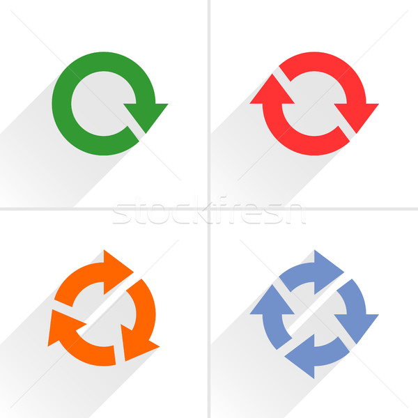 Color arrow loop, refresh, reload, rotation sign Stock photo © feelisgood