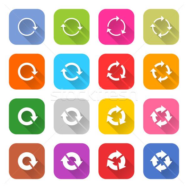 Arrow icon refresh, rotation, reset, repeat sign Stock photo © feelisgood