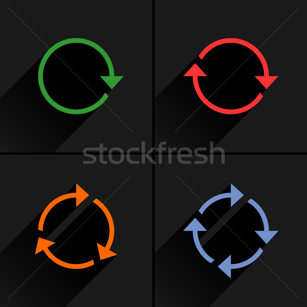 Color arrow loop, refresh, reload, rotation icon Stock photo © feelisgood
