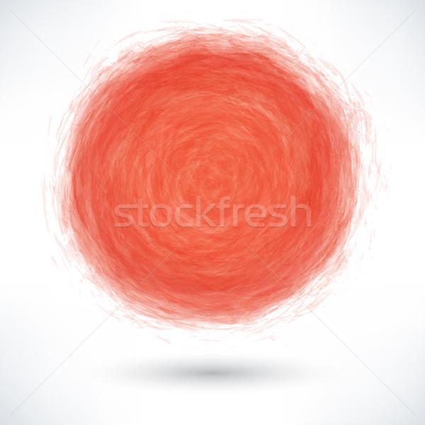 Piros ecset űrlap kör szürke csepp Stock fotó © feelisgood