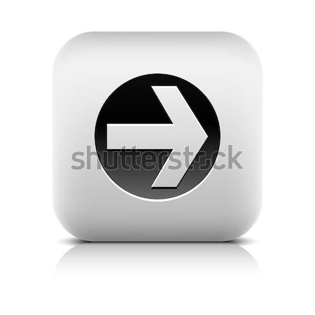ウェブのアイコン 黒 サークル 石 スタイル ストックフォト © feelisgood