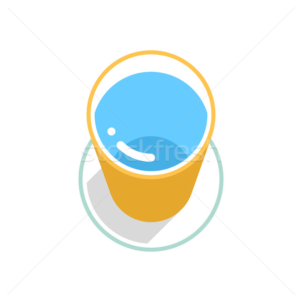 Stock photo: Yellow bucket with clean water