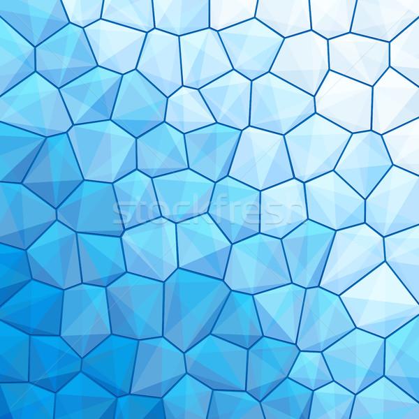Mavi soyut geometrik üçgen bo Stok fotoğraf © feelisgood