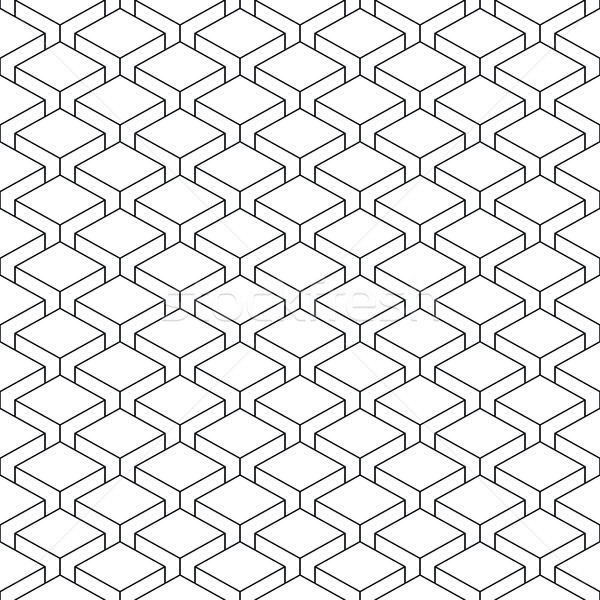 Seamless pattern witheffect cubes in perspective Stock photo © feelisgood