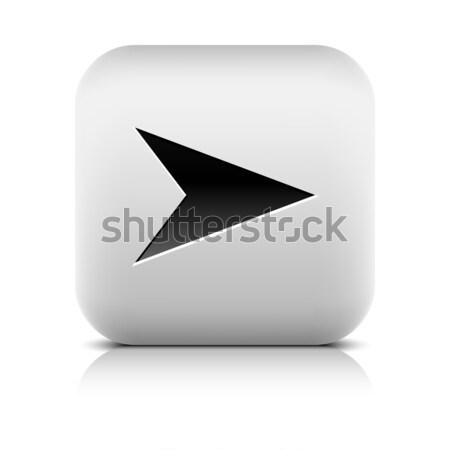ウェブのアイコン 広場 ボタン 黒 影 ストックフォト © feelisgood