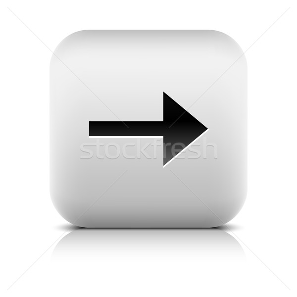 Gray icon with black arrow sign Stock photo © feelisgood