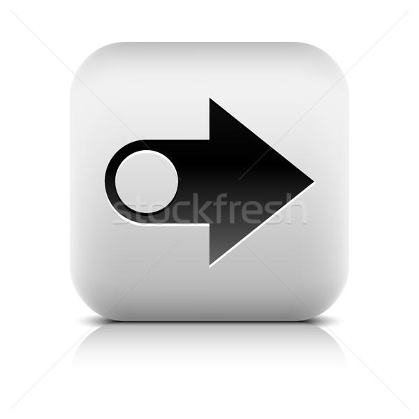 Stok fotoğraf: Web · simgesi · ok · işareti · taş · stil · kare · düğme