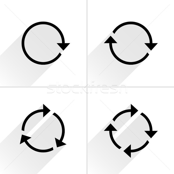 Black arrow loop, refresh, reload, rotation icon Stock photo © feelisgood
