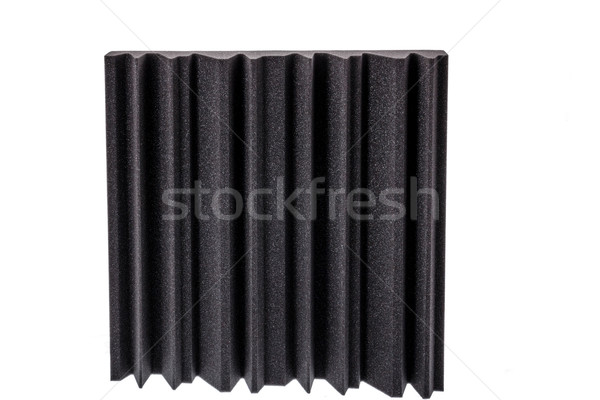 piece of microfiber foam insulation for noise in the corners of  Stock photo © feelphotoart