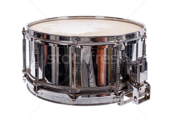silver music plywood snare drum Stock photo © feelphotoart