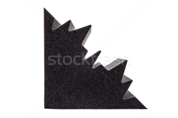 cross section of microfiber foam insulation for noise in the cor Stock photo © feelphotoart