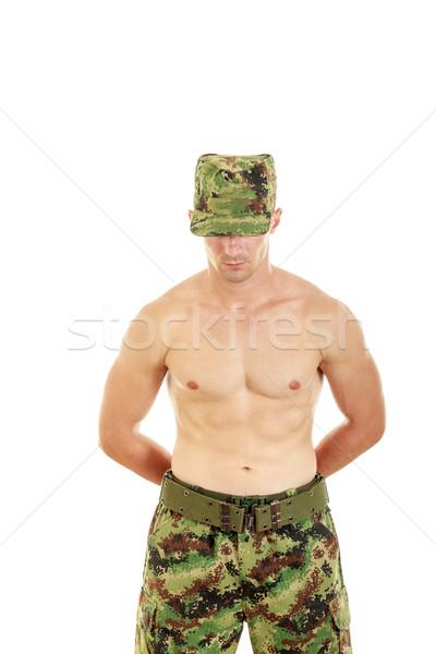 солдата безопасности положение военных брюки Сток-фото © feelphotoart