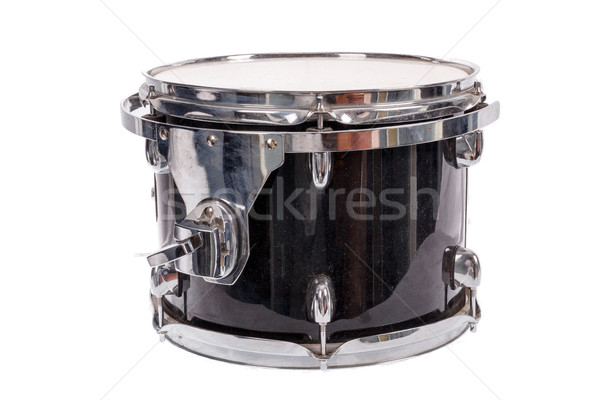 black music bass drum  on white background Stock photo © feelphotoart