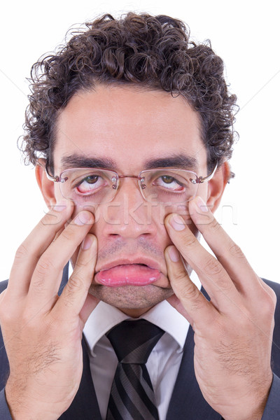 man stretching face Stock photo © feelphotoart