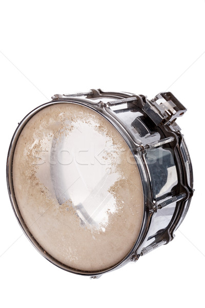 plywood snare drum isolated on white background Stock photo © feelphotoart