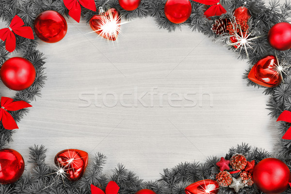 Рождества Новый год украшение соснового ель Сток-фото © feelphotoart
