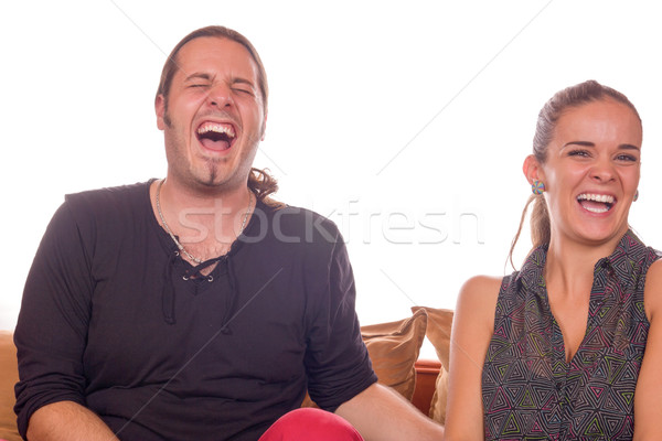 couple dying of laughter Stock photo © feelphotoart