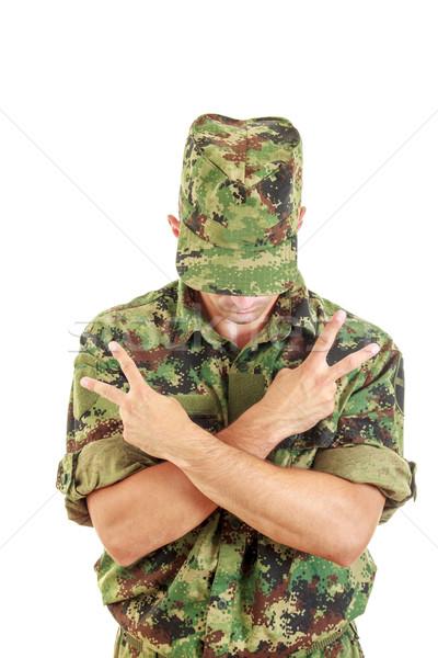 нет название солдата Постоянный знак мира Сток-фото © feelphotoart