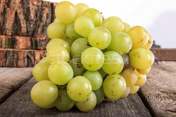 свежие зеленый виноград продовольствие фрукты Сток-фото © feelphotoart