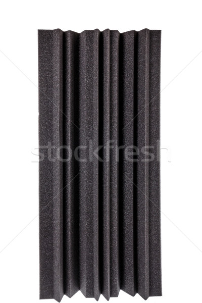 Stock photo: black gray  microfiber foam wall  insulation for noise in music