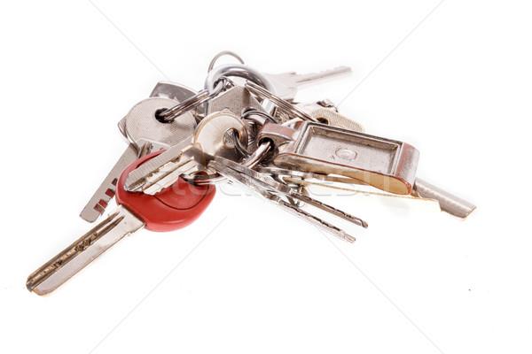 Köteg sok kulcsok egy hely izolált Stock fotó © feelphotoart