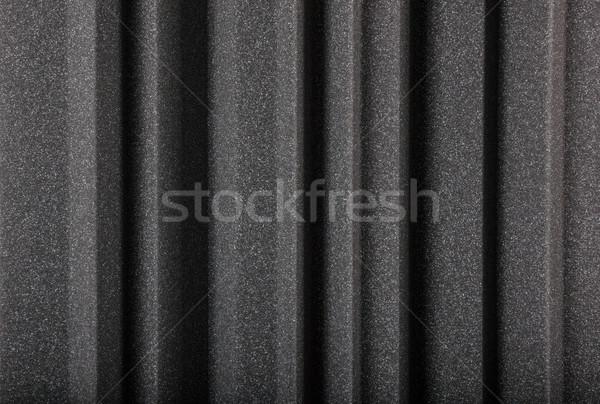 Macro acoustique mousse mur noir gris Photo stock © feelphotoart