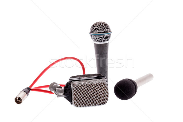 studio recording groups of vintage  microphones for music perfor Stock photo © feelphotoart