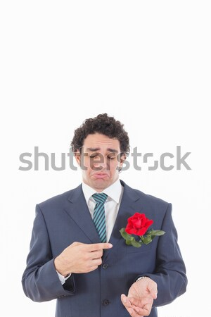 man does not love flowers Stock photo © feelphotoart