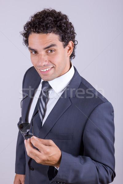 Kellemes üzletember öltöny üzlet arc portré Stock fotó © feelphotoart